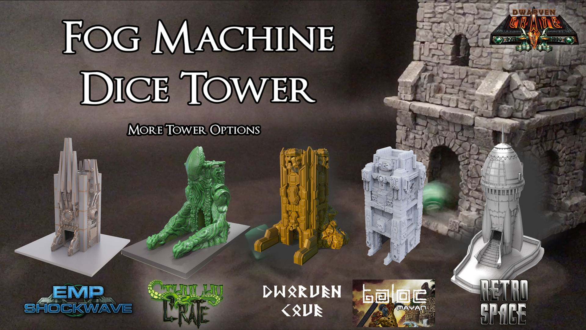 Custom Dice Towers for your Retail Store.